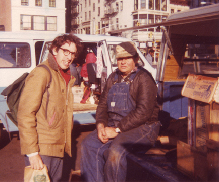 (l to r) Bob Lewis and Ron Binaghi Sr - 1977 Union Square Greenmarket